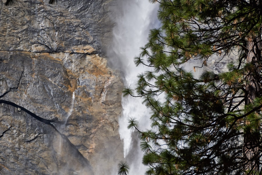 Yosemite waterfall in March 2016