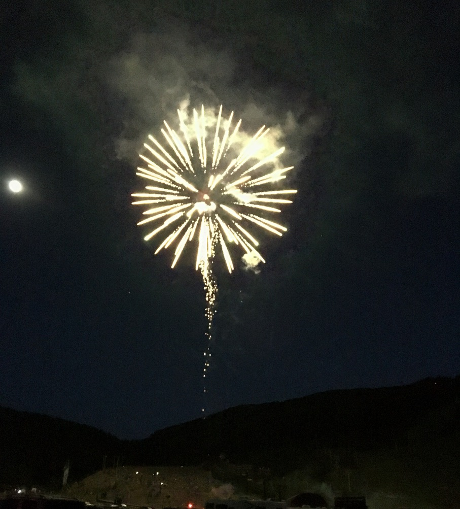 July 4 fireworks in the mountains