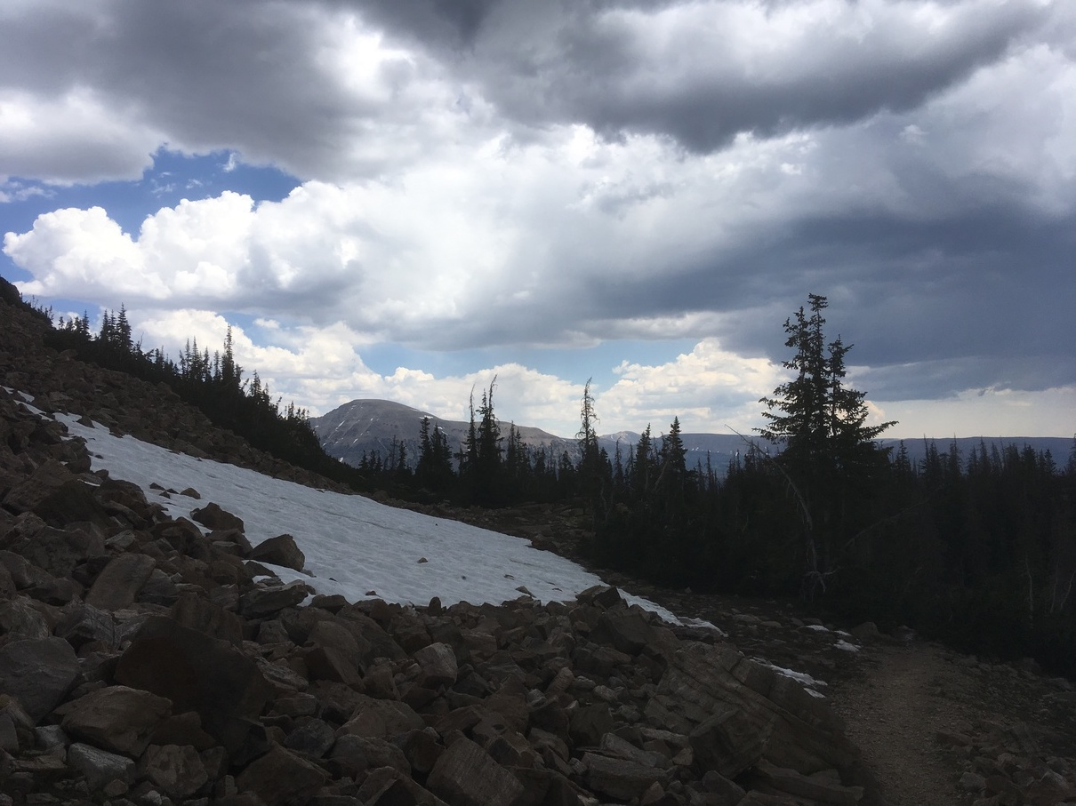 Snow in on the Bald Mountain